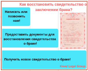 Какие документы нужны для восстановления свидетельства о браке ?