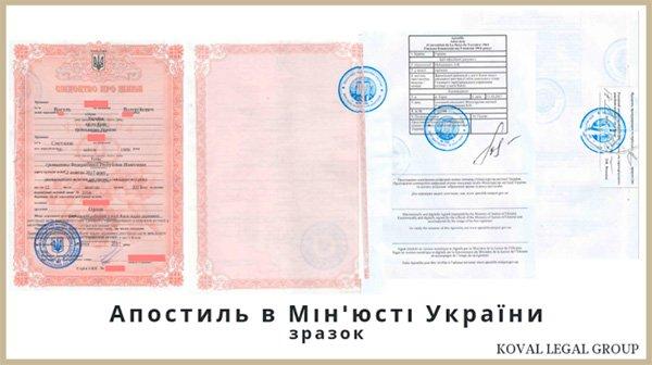 апостиль Мінюст Київ