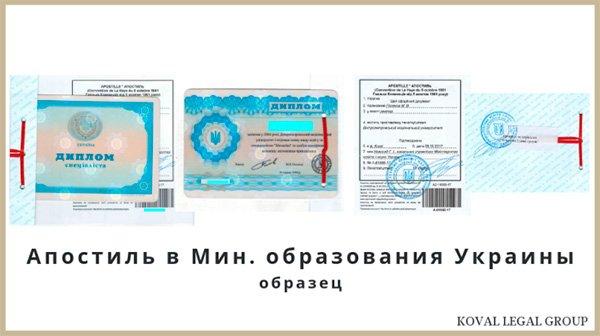 Министерство Образования и Науки Украины апостиль