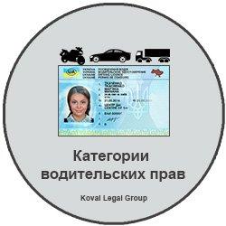 категории водительских прав Украина