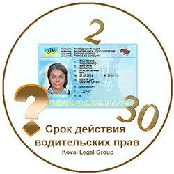 водительские права Украина срок действия