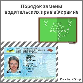 правила обмена водительских прав в Украине